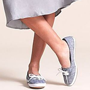 KEDS Chambray Teacup Sneaker NWOT